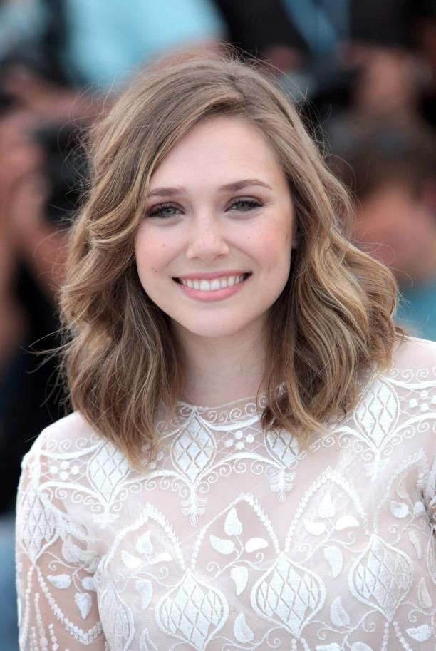 Medium Wavy Hairstyle: Feminine Soft Wavy Curly Long Bob