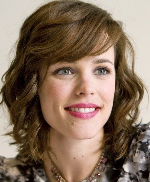 Medium Wavy Hair with Bangs