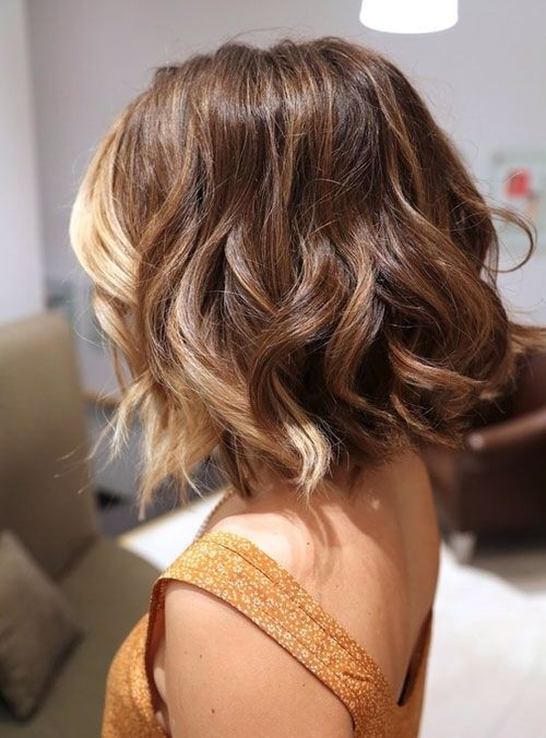 Medium Wavy Hairstyle: Ombré Style Bangs All Blonde