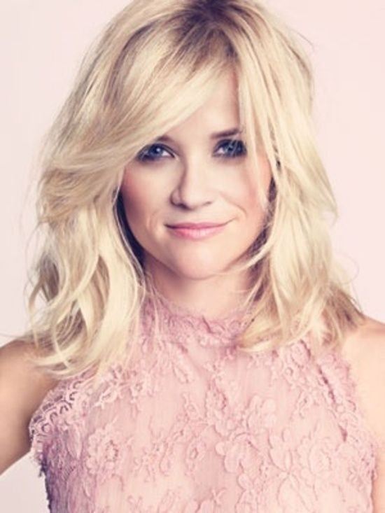 Medium Wavy Hairstyle: Reese Whiterspoon Blonde Hair