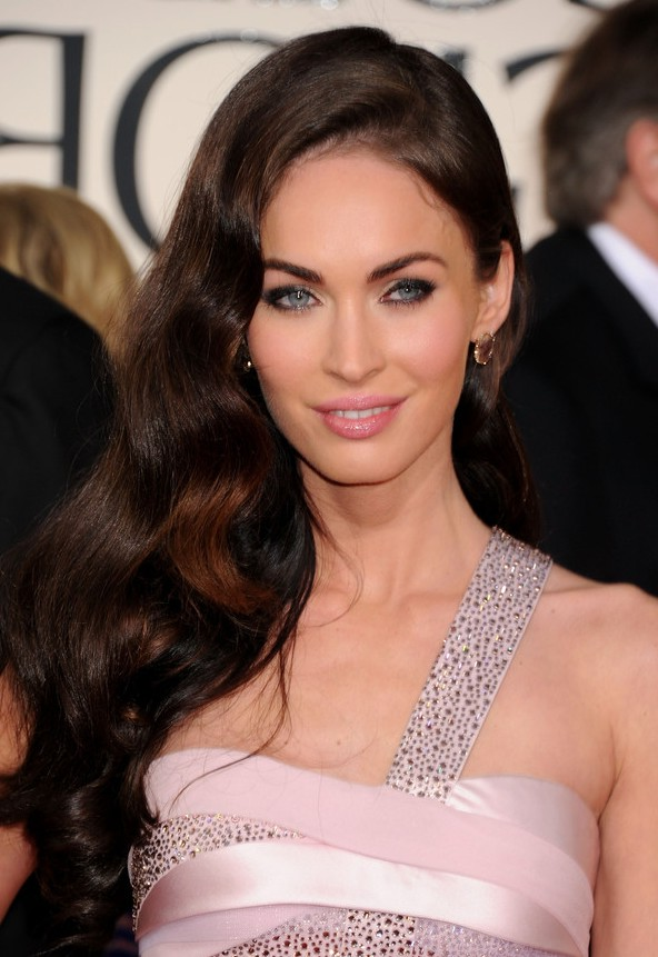 Megan Fox Side Formal Curly Hairstyle For Women Styles