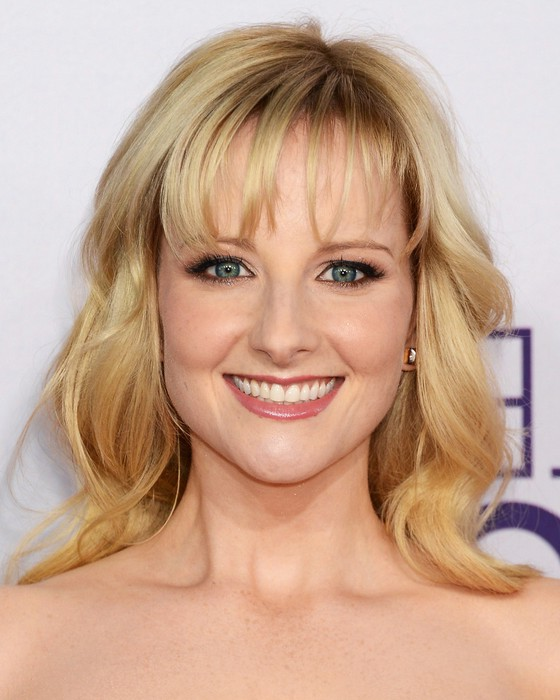 Melissa Rauch Medium Blonde Curly Hairstyle For Women