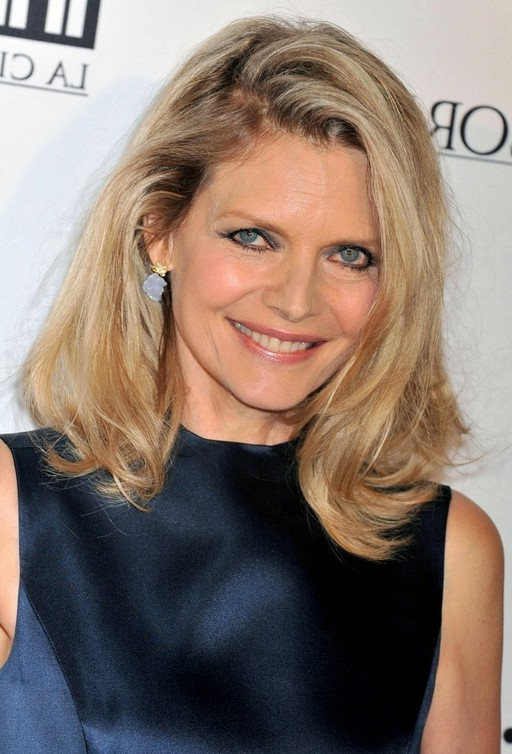 Michelle Pfeiffer Latest Medium Blonde Wavy Hairstyle