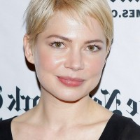 Michelle Williams Short Straight Pixie Cut for Square Faces