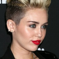 Miley Cyrus Cool Short Spiked Straight Haircut