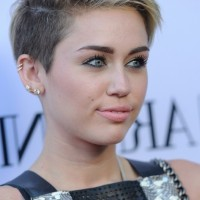 Miley Cyrus Short Straight Pixie Cut for Women