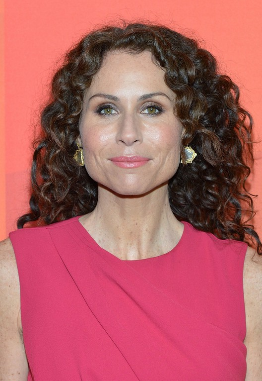 Minnie Driver Long Hairstlye With Bouncy Curls For Women
