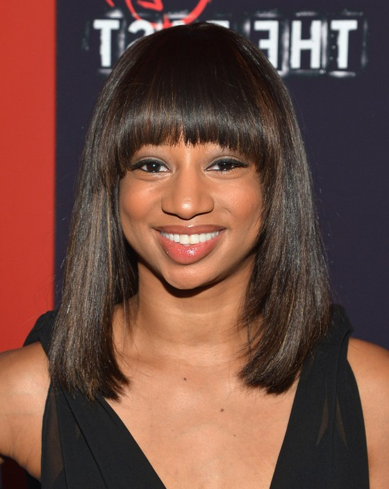 Monique Coleman Medium Straight Cut With Blunt Bangs For