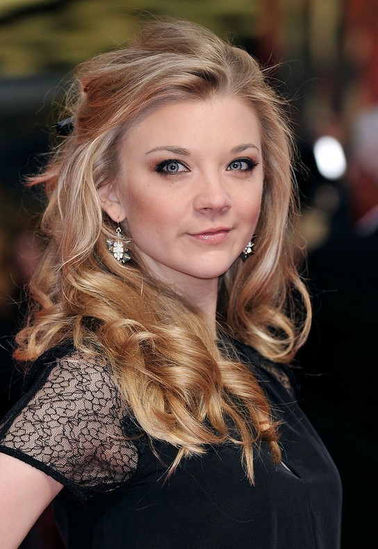 Natalie Dormer Cute Curly Half Up Half Down For Heart Faces Styles
