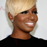 NeNe Leakes Short Straight Blonde Haircut for Black Women