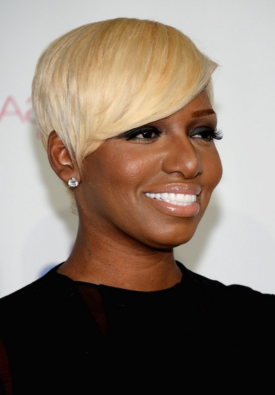Nene Leakes Short Straight Blonde Haircut For Black Women Styles