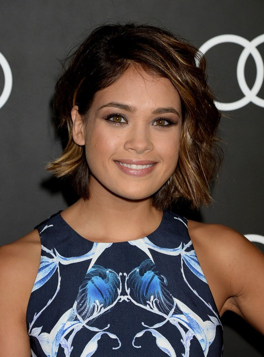 Nicole Gale Anderson Short Layered Sassy Razor Cut