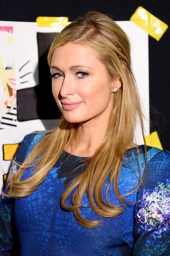 Paris Hilton Half Up Half Down Hairstyle For Thin Hair