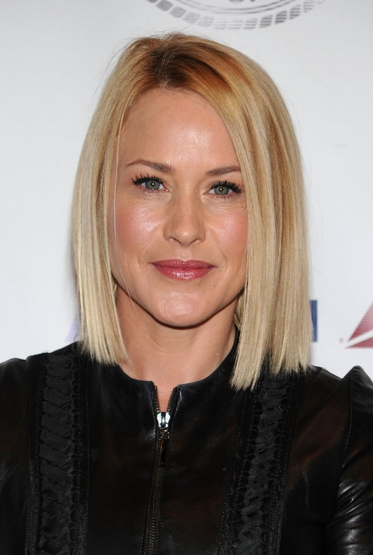 Patricia Arquette Medium Blonde Straight Hairstyle