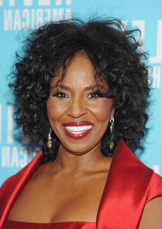 Pauletta Washington Medium Black Curly Hairstyle For Women Over 60