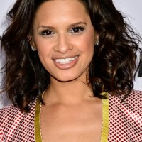 Rocsi Diaz Cute Shoulder Length Curly Hairstyle