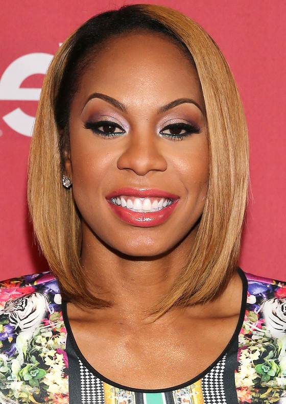 Sanya Richards Ross Medium Sleek Hairstyle For Black Women