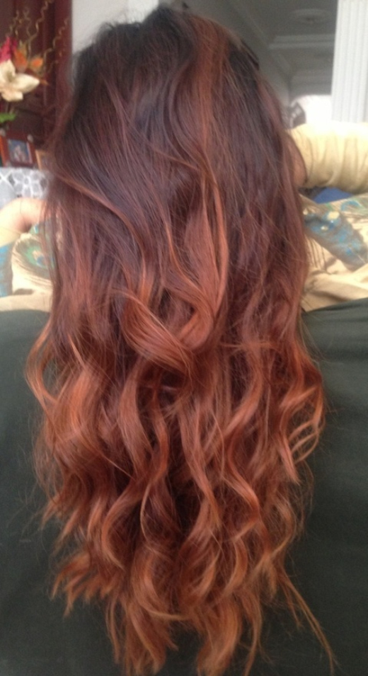 Sexy Layered Ombre Hair with WAves