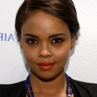 Sharon Leal Cute Short Side Parted Haircut with Side Bangs