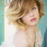 Short Ombre Bob Haircut with Bangs