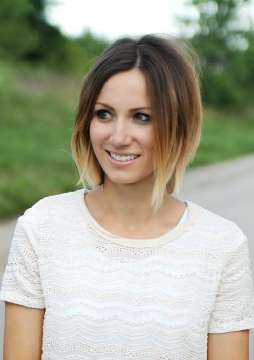 Short Ombre Bob Hairstyle