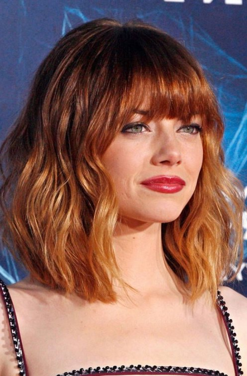 Short Red Ombre Haircut With Bangs Styles Weekly