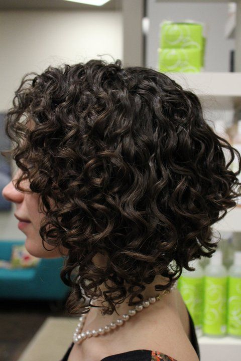 Side View of Dark Curly Hairstyle for Short Hair