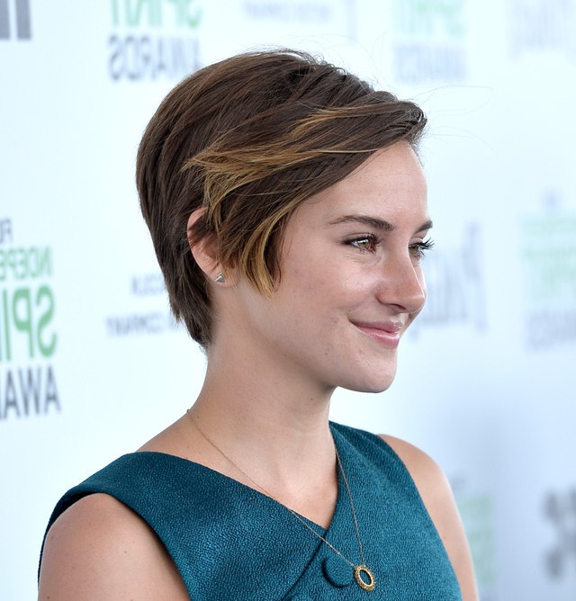Side View of Shailene Woodley Short Straight Haircut