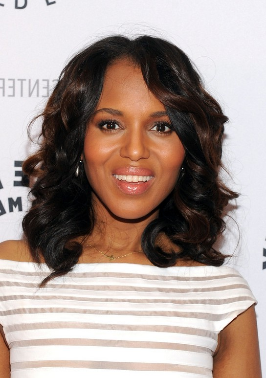 Simple Easy Daily Hairstyle For Medium Length Hair From Kerry Washington