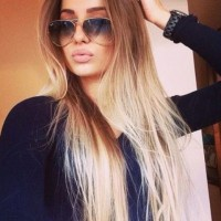 Sleek Long Ombre Hair