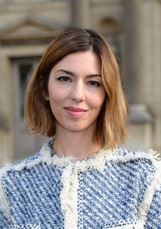 Sofia Coppola Cute Short Side Parted Ombre Bob Hairstyle