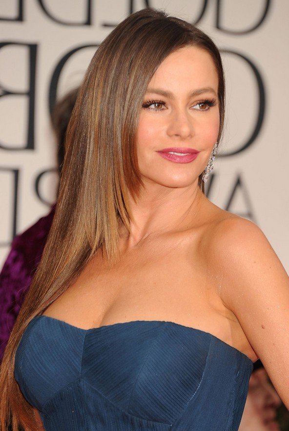 Sofia Vergara Layered Long Straight Formal Hairstyle For