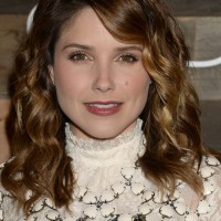 Sophia Bush Medium Brown Wavy Hairstyle with Bangs