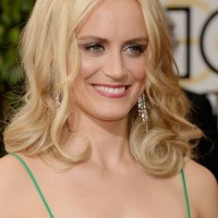 Taylor Schilling Shoulder Length Blonde Curly Hairstyle