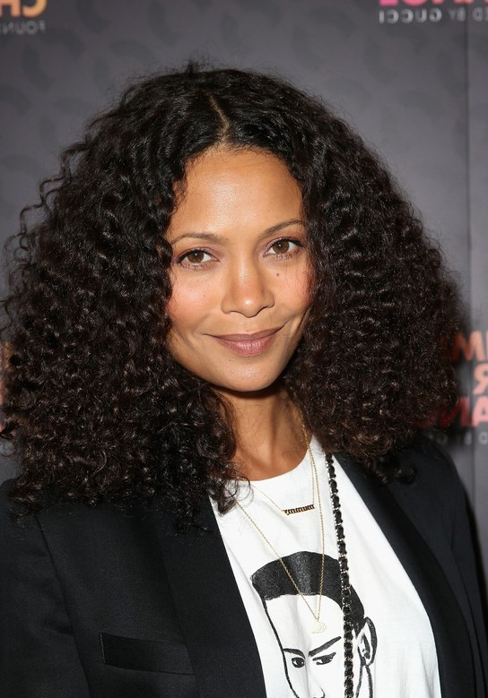 Thandie Newton Cute Big Curly Hairstyle For Young Ladies