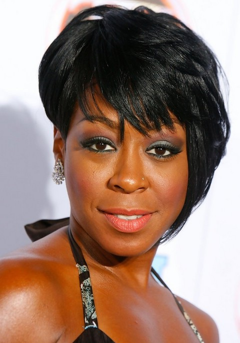 asymmetrical haircuts for black tichina arnold black asymmetrical razor cut with 3270