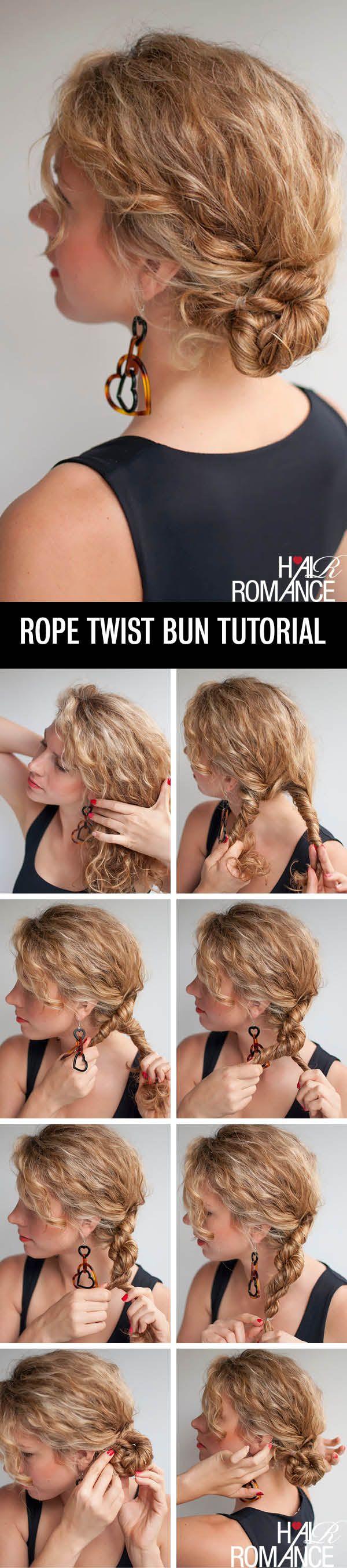 Twist Bun Updo Tutorial for Curly Hair