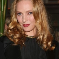 Uma Thurman Shoulder Length Blonde Hairstyle