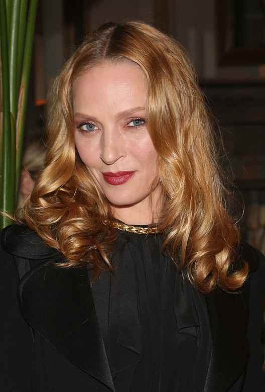 Uma Thurman Shoulder Length Blonde Hairstyle Styles Weekly