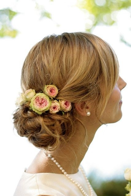 Updo Hairstyle with Flower: Bride Hair Style
