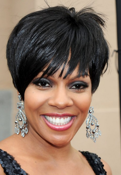 Wendy Raquel Robinson Layered Short Black Haircut With