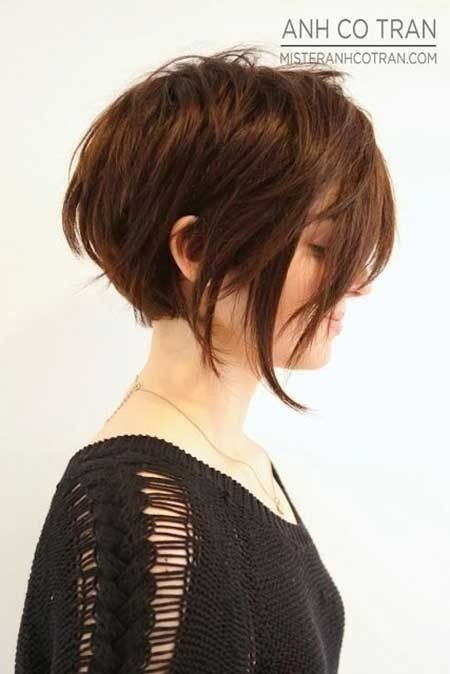 Asymmetrical Short Hair Style for School