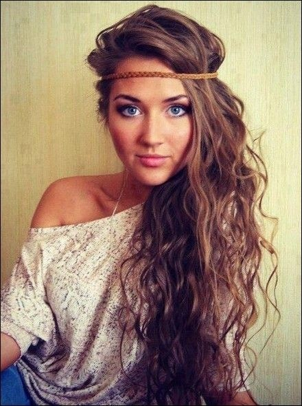 Braid Boho Hair Style: Brunette Ombre for Long Hair / Via