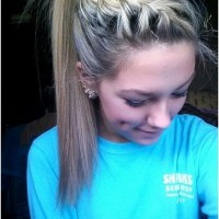 Braid with High Ponytail: Pretty Hairstyles for School
