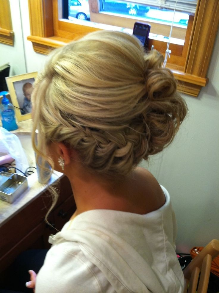 Braided Side Updo: Prom Hairstyles / Pinterest