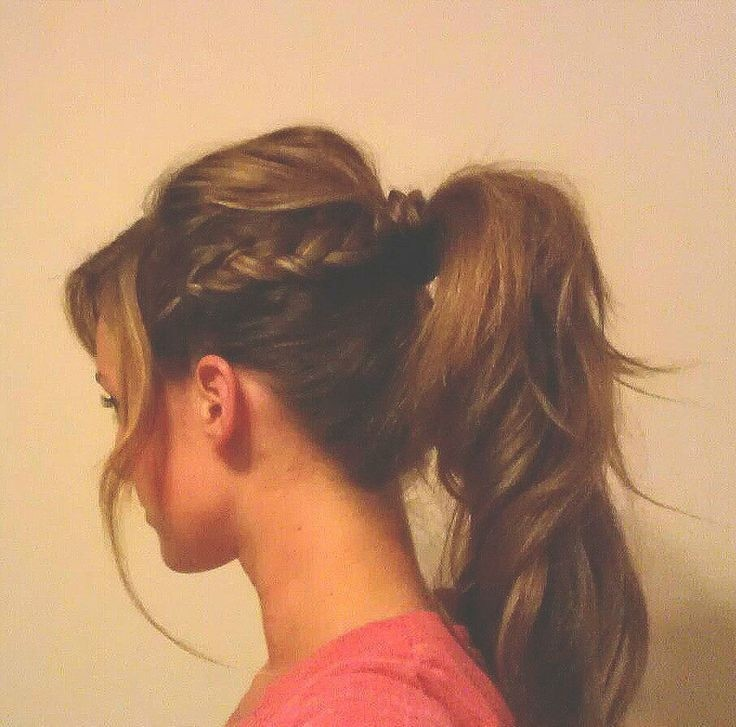 Cute Side Braid with a ponytail