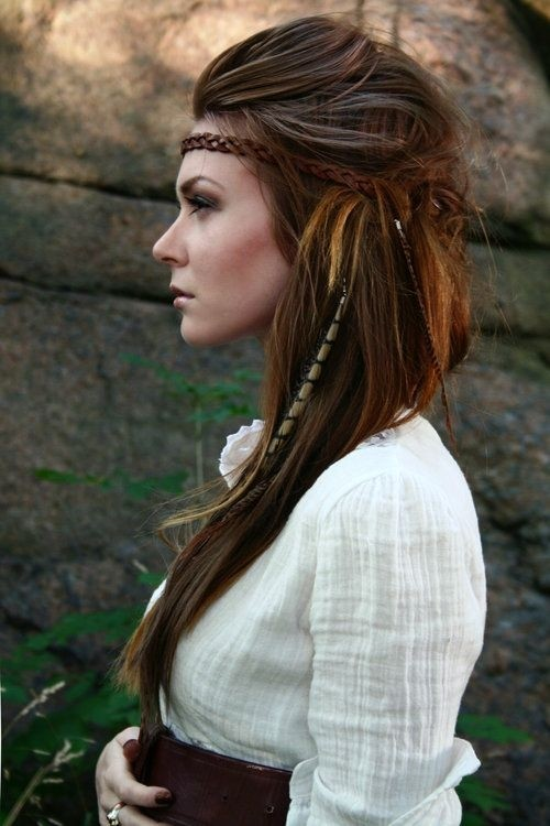 Easy Boho Hairstyle with Accessories: Long Hair Ideas