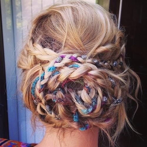 Fancy Hairstyles: Boho Braided Updo for Long Hair
