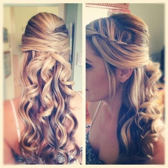 Fancy Hairstyles for Long Hair: Half Up Half Down Hairstyle for Prom