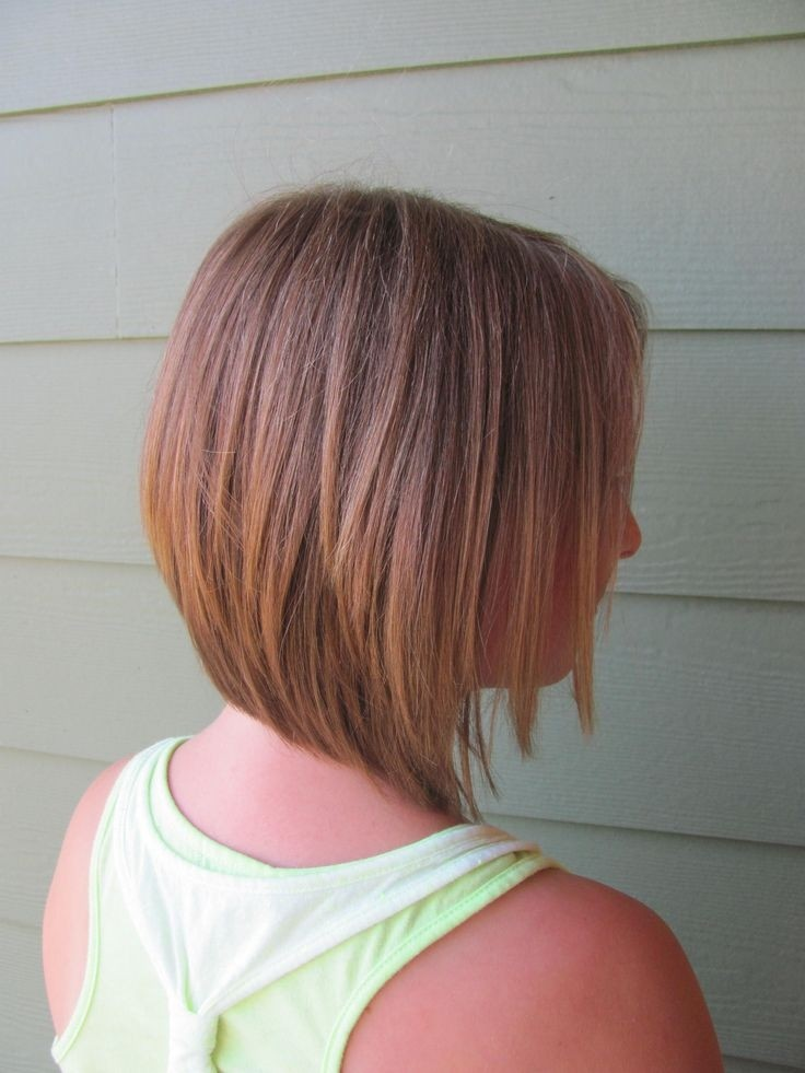Girl Inverted Bob Haircut for School